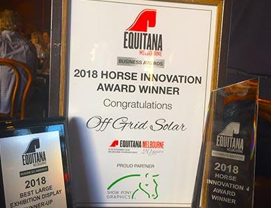 Sonaray Australia Awarded at Equitana Melbourne